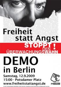 Flyer Freiheit-statt-Angst-Demo