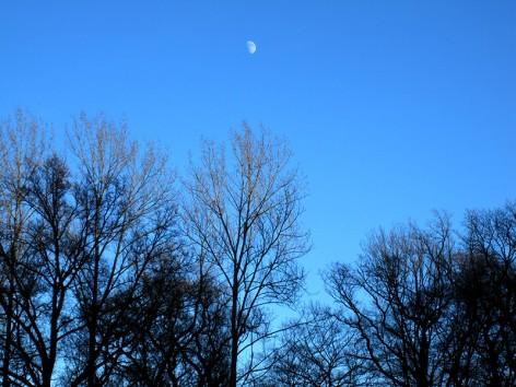 Bis der Mond über uns stand :)
