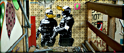 Banksy @ Urban Affairs 2008, Berlin